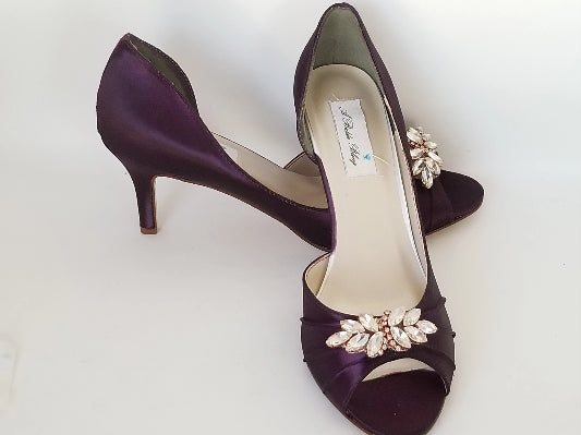 plum wedding shoes