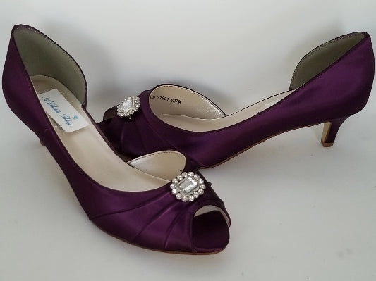 purple bridesmaids shoes