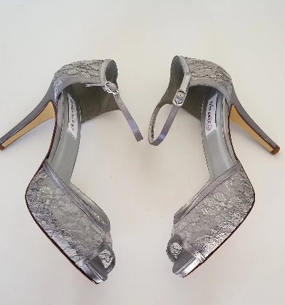 gray wedding shoes
