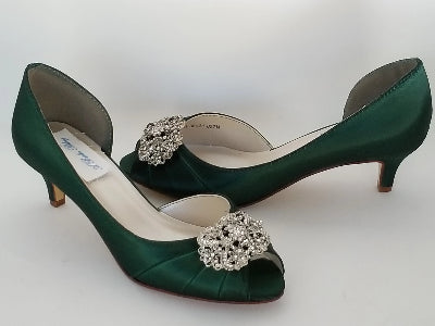 green wedding shoes vintage