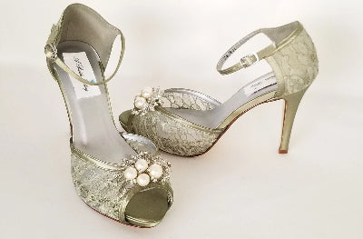 sage green wedding shoes