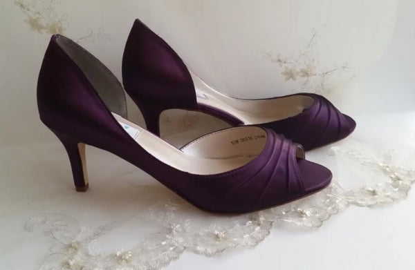 plum bridesmaids shoes