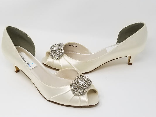 Ivory Wedding Shoes Vintage Design