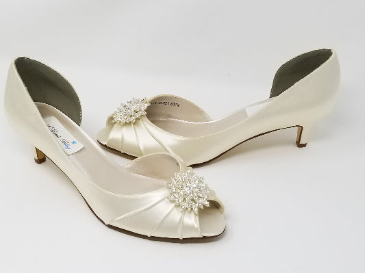 Ivory Bridal Shoes Crystal Burst