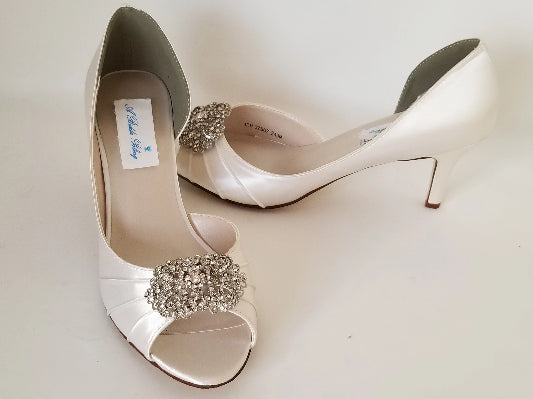 Vintage Style Ivory Wedding Shoes Custom Wedding Shoes By A Bidda Bling