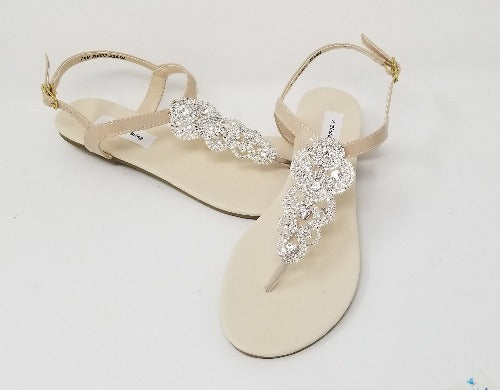 nude bridal sandals