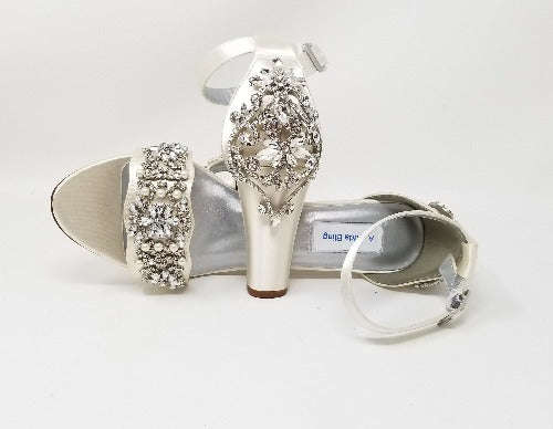 ivory wedding shoes with crystals