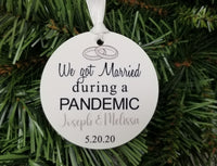 covid wedding ornament