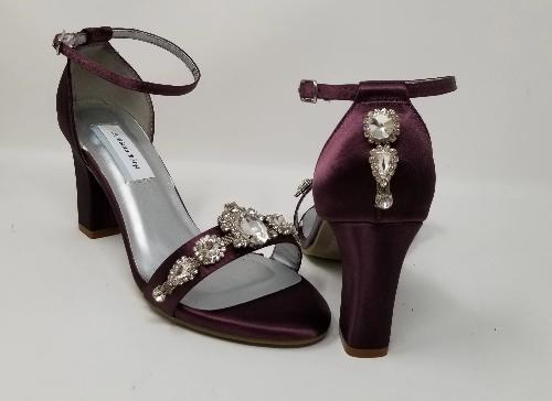 purple bridal heels