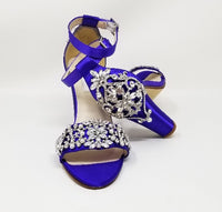 purple wedding shoes block heel