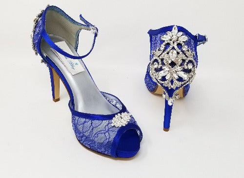 royal blue bridal shoes