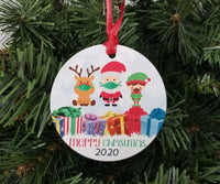 covid santa christmas ornament 2020