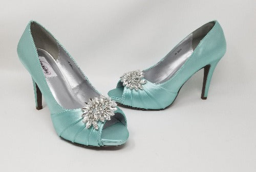 tiffany blue bridal shoes