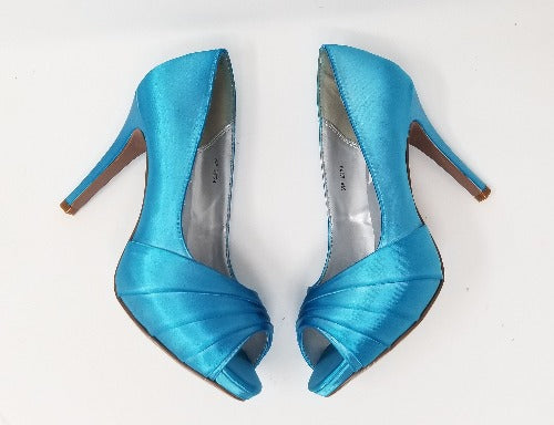 turquoise blue bridal shoes