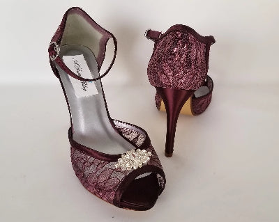 wine wedding shoes