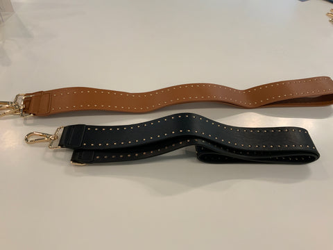 Soft vegan leather stud strap