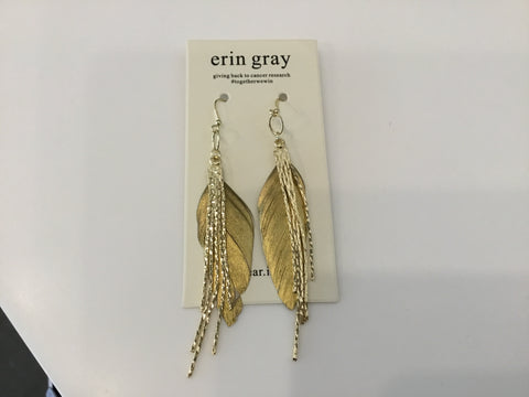 Feather dangler in gold