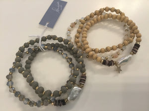 Mother of pearl bead stack