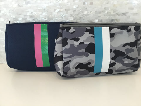 Neoprene zip top pouch