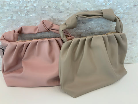 Knot handle shoulder bag