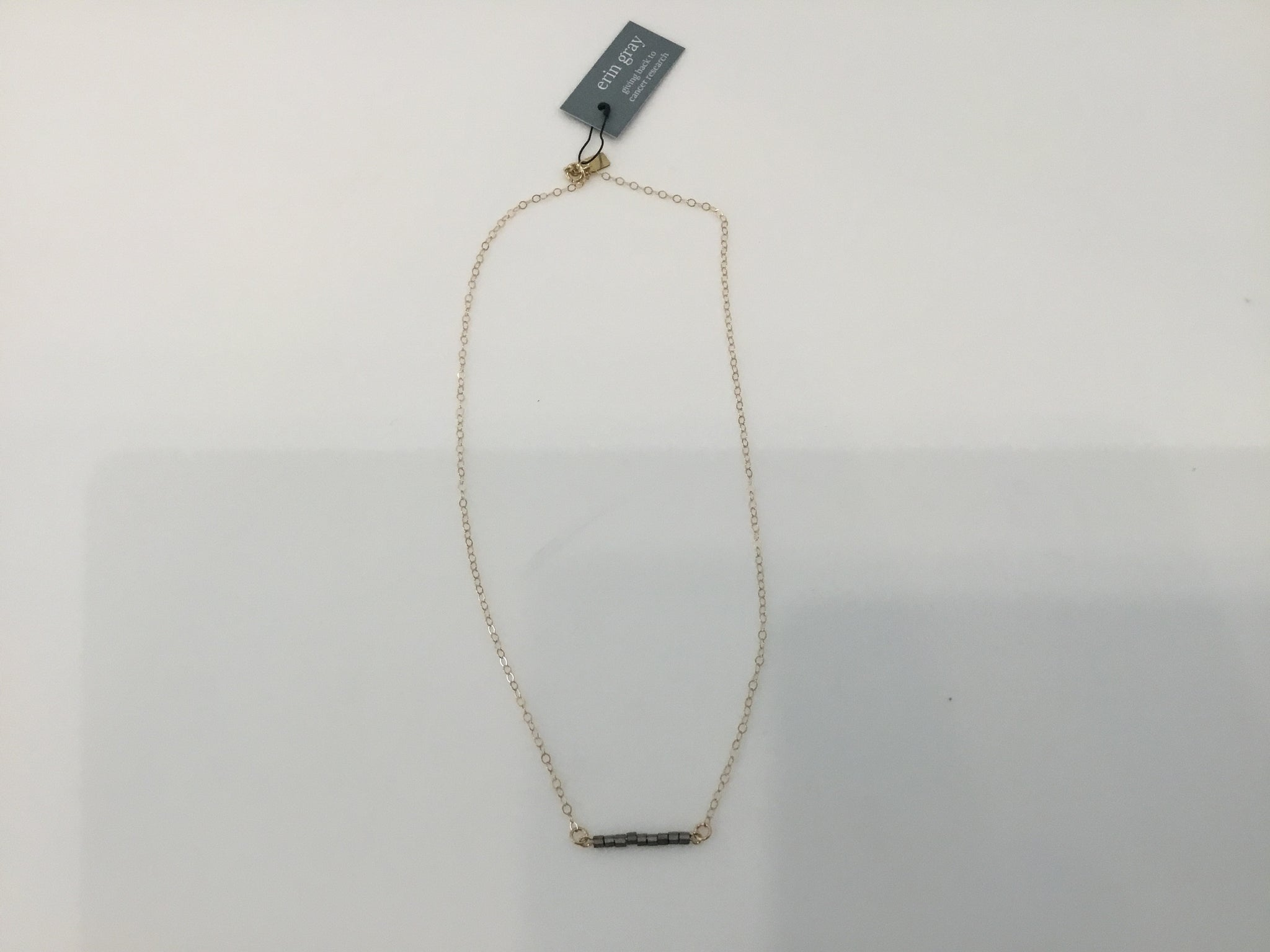 Platinum bar necklace