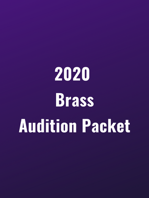 Genesis Brass 2020 Audition Packet