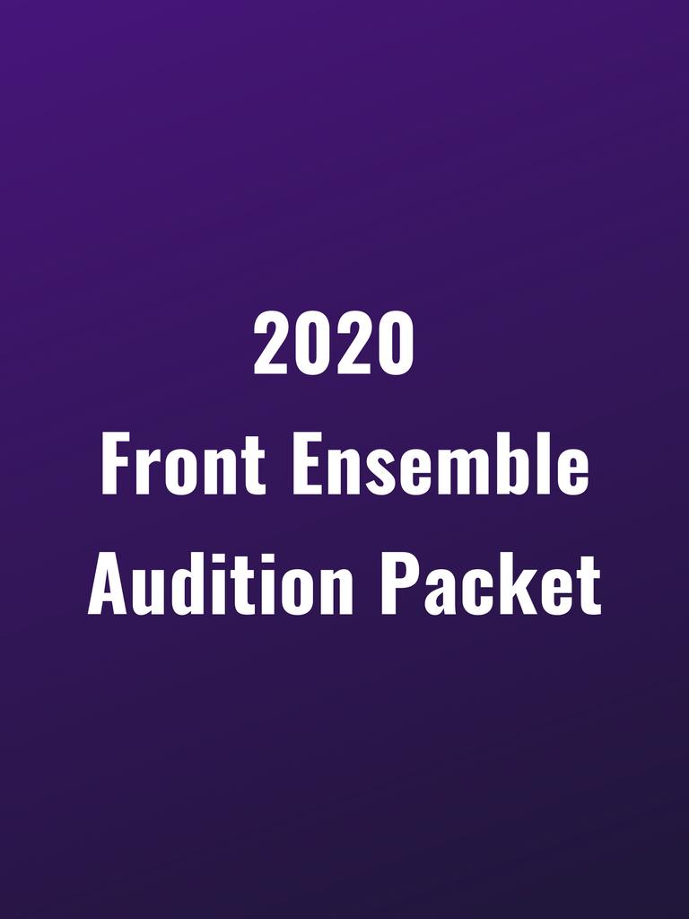 Genesis Front Ensemble 2020 Audition Packet