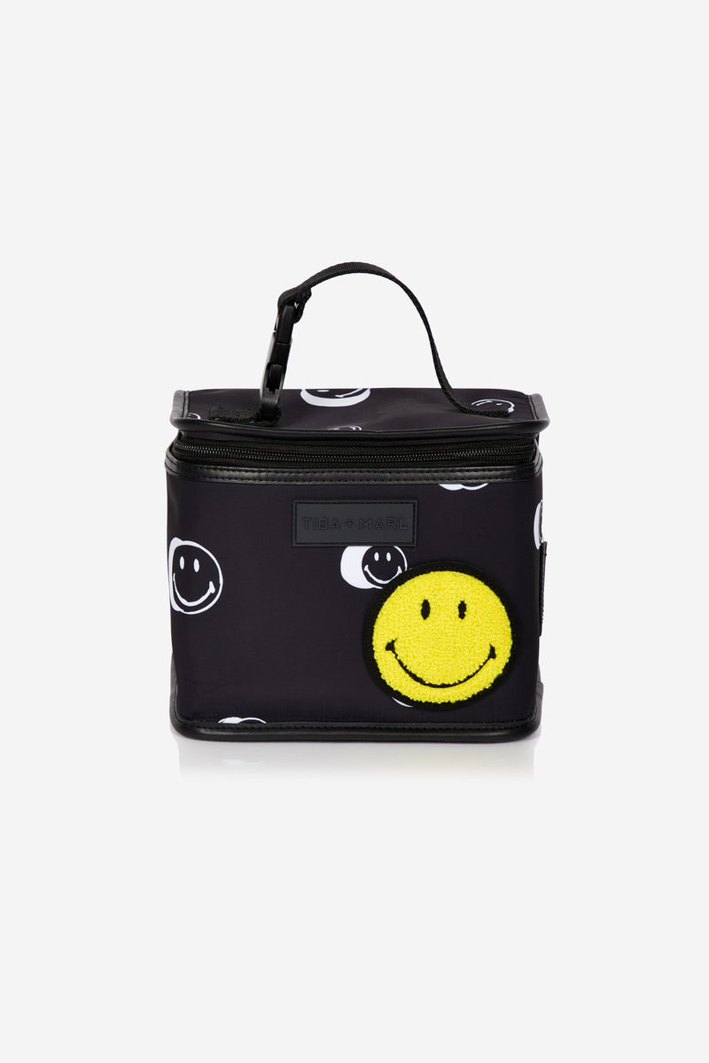 Tiba + Marl x Smiley® Arlo Lunch Bag / Snack Pack Black Smiley® Print