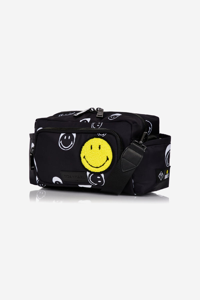Tiba + Marl x Smiley® Inka Buggy Organiser Black Smiley® Print