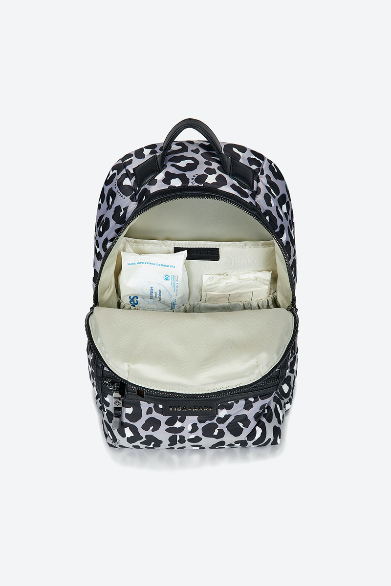 Elwood Changing Backpack Mono Leopard Print