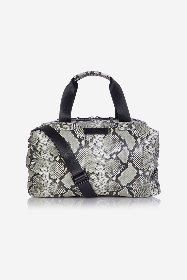 Raf Holdall Changing Bag Grey Snake Print