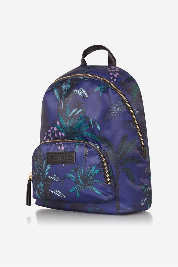Mini Elwood Kids Backpack Navy Botanical