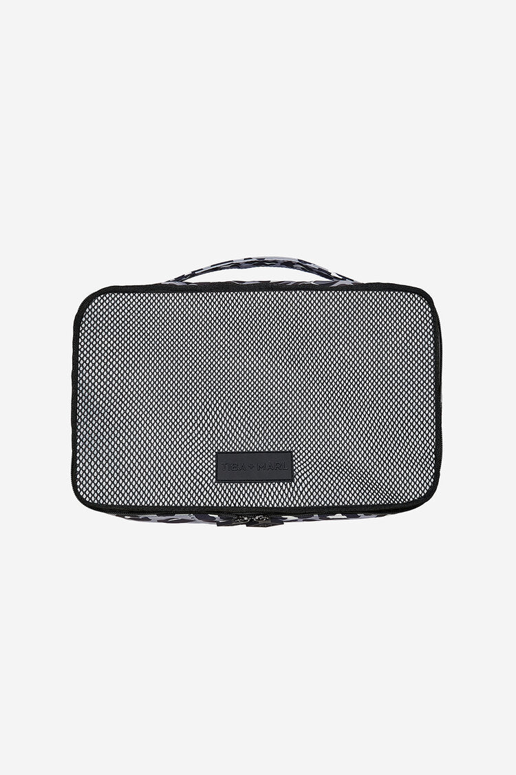 T+M Packing Cubes Set Grey / Black Leopard Print