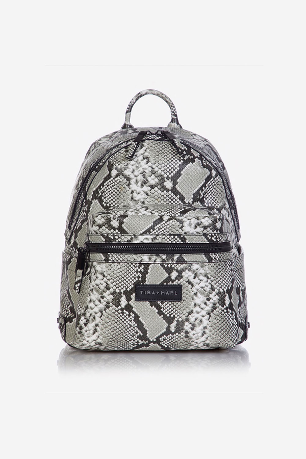 Miller Changing Backpack Grey Snake Print