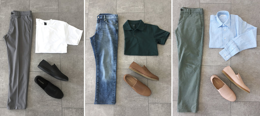 mens leather slip ons and pants indie prep