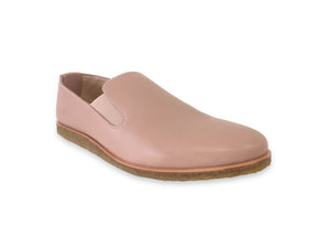 beige leather slip ons