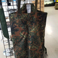 German Flecktarn Wet Weather Trousers with Suspenders - X-Large