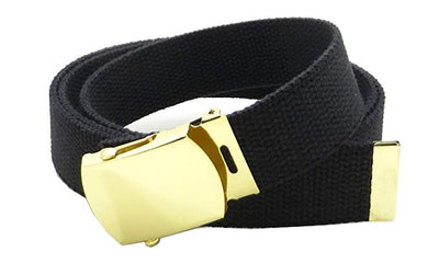 Black Web Belt w/ Buckle