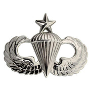 Senior Parachutist (Airborne) Badge - Non Subdued / Mirrored Finish