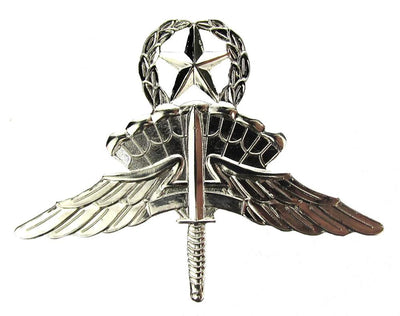 Military Freefall (HALO) Jumpmaster Badge - Non Subdued / Mirror Finished