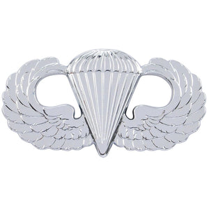 Basic Parachutist (Airborne) Badge - Shiny / Mirror Finish