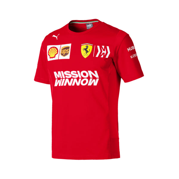 T-SHIRT FERRARI TEAM 2019 ROUGE HOMME