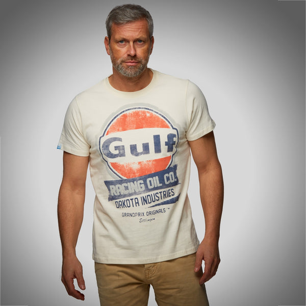 T-SHIRT GULF OIL RACING BEIGE HOMME