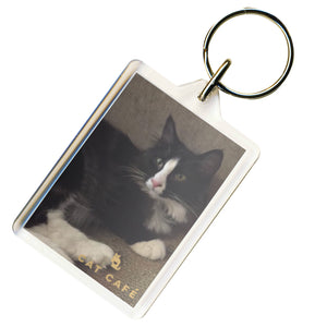Cat Cafe Manchester - Darcey Keyring