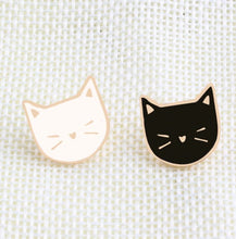 Load image into Gallery viewer, Black and White Cat Pin Set