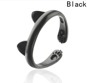 Cat Ears - Black Ring - Adjustable