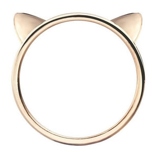 3D Cat Ears - Gold Ring