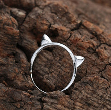 Load image into Gallery viewer, 3D Cat Ears - Silver Ring