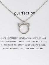 Load image into Gallery viewer, Cat Head Outline Necklace - Silver