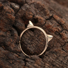 Load image into Gallery viewer, 3D Cat Ears - Gold Ring
